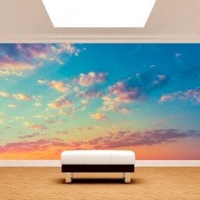Nuvole di murales muro foto nel cielo