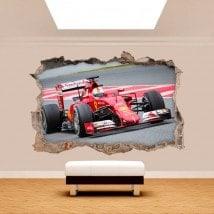 Muro di vinile foro 3D Formula 1