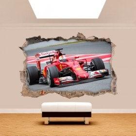 Parete del foro vinile 3D Formula 1