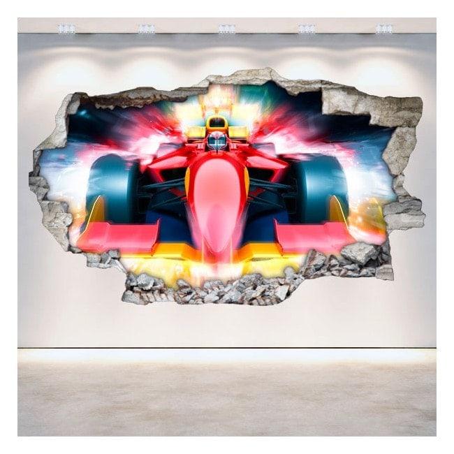 Formula 1 rotto 3D parete in vinile