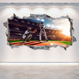Baseball 3D vinile parete-rotta