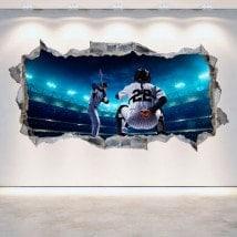 Baseball 3D vinile foro parete