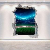 Parete in vinile rotto Baseball 3D Italian 5287