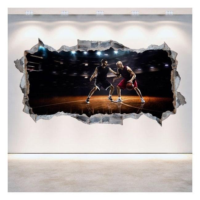 Vinile parete 3D rotante basket