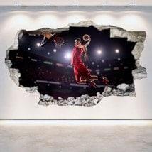 Basket di vinile foro parete 3D