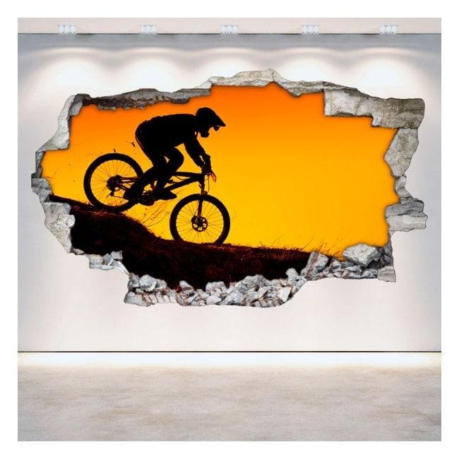 Mountain bike in vinile 3D
