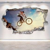 Vinile foro parete 3D BMX