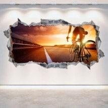Parete del foro di vinile ciclismo 3D