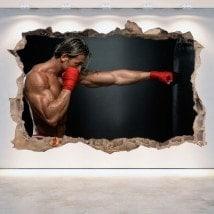 Vinile parete-rotta 3D boxing