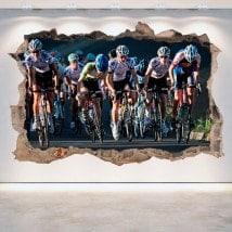 Parete 3D rotto in bicicletta di vinile