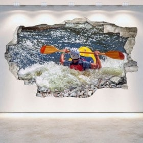 3D Rafting kayak vinile parete-rotta