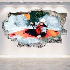 Muro di Rafting Kayak di vinile rotto 3D