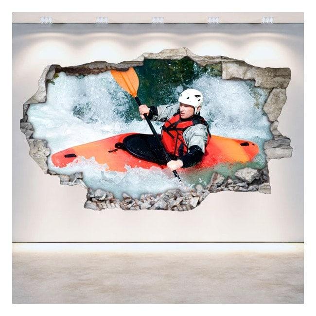 Vinile Rafting kayak muro rotto 3D