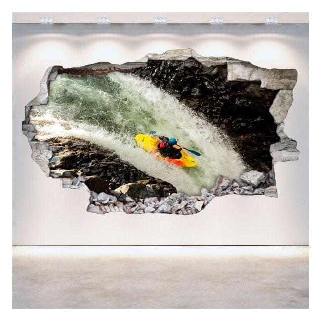 Vinili 3D muro rotti Rafting kayak