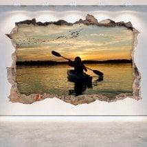 Parete in vinile rotto 3D Kayak