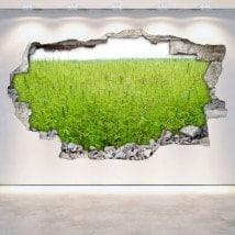 Marijuana di vinile adesivi 3D parete-rotta