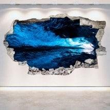 Vinile parete-rotta grotte 3D