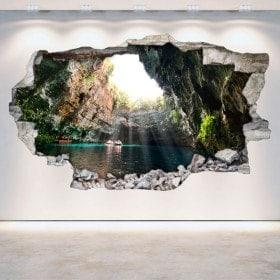 Vinile grotte e grotte rotti parete 3D