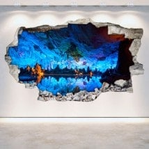Grotte e vinile foro parete 3D
