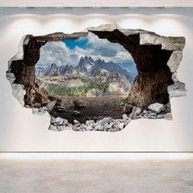 Vinile grotte 3D parete-rotta
