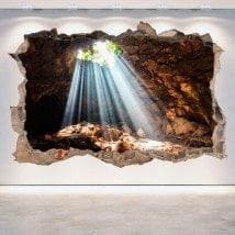 Caverne e grotte 3D vinile foro parete