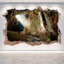 Parete del foro 3D grotte vinile