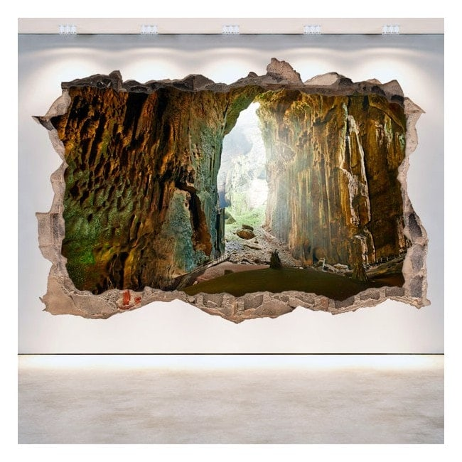 Vinile decorativo parete-rotta grotte 3D