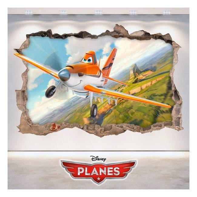 Vinile per bambini Dusty aerei 3D