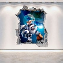 Vinile decorativo 3D Ice Age 5 muro rotto