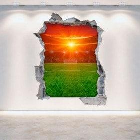 Stadio di vinile del calcio muro rotto 3D