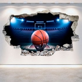 Muro di pallacanestro di vinile rotto 3D