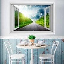 Pino e strada 3D di Windows