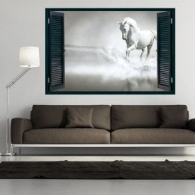 Cavallo bianco 3D di Windows