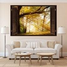 Natura di alberi 3D finestra