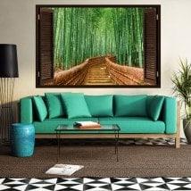 Scale di bambù 3D finestra