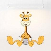 Giraffa in vinile per bambini in pannolini