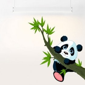 Orso di vinile per bambini Panda e ramo di albero