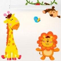In vinile per bambini Kit animali Zoo