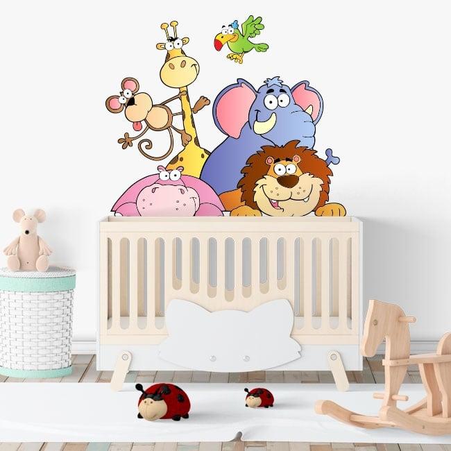 Animale di vinile adesivo bambini Zoo