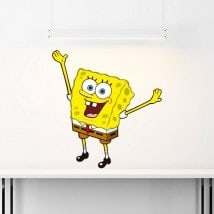 Adesivi in vinile Sponge Bob Italian 5488