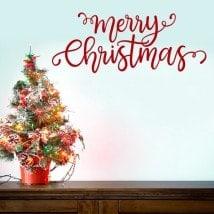 Buon Natale in vinile decorativo Italian 5499