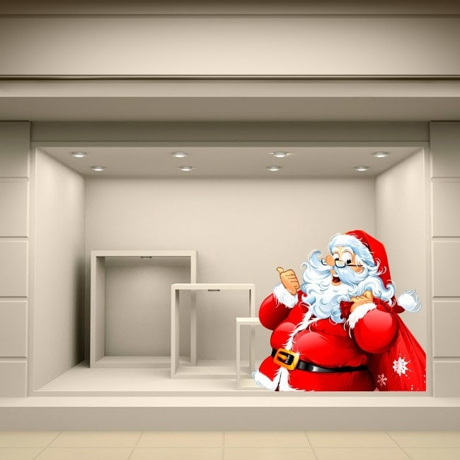 Adesivi di Babbo Natale Italian 5508