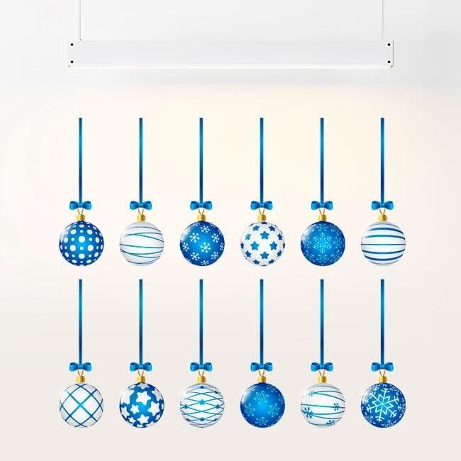 Palle di Natale di adesivi