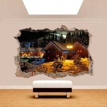 3D inverno vinile in montagna