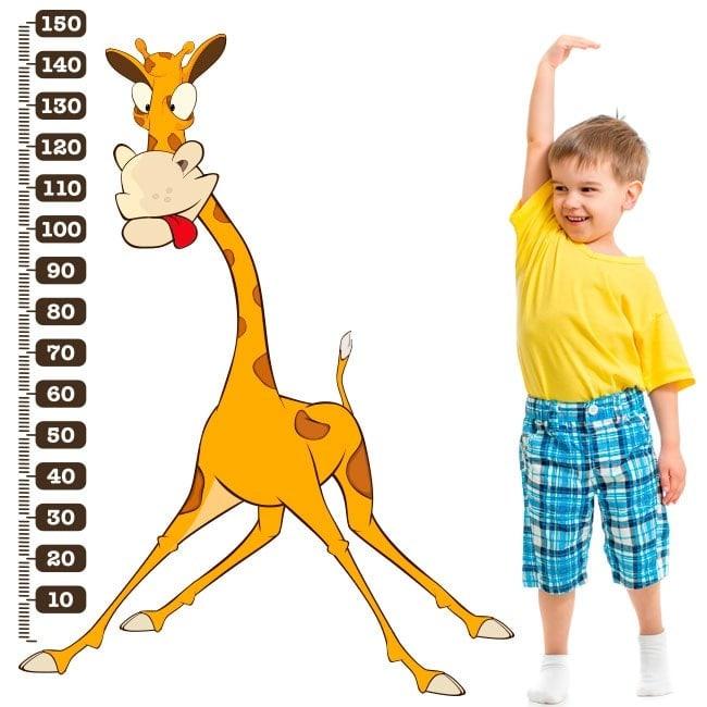 Giraffa per bambini misura di vinile