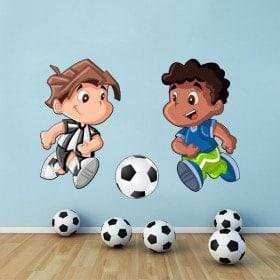 Vinile figli a giocare a calcio