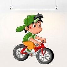 Bambino in vinile per bambini e biciclette