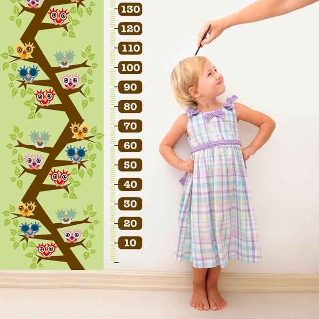 Bambino di gauge gufi di vinile nell'albero