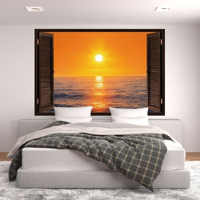 Windows 3D sole tramonto