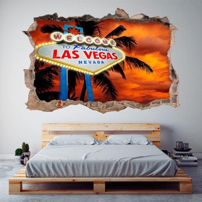 Poster 3D di vinile Las Vegas